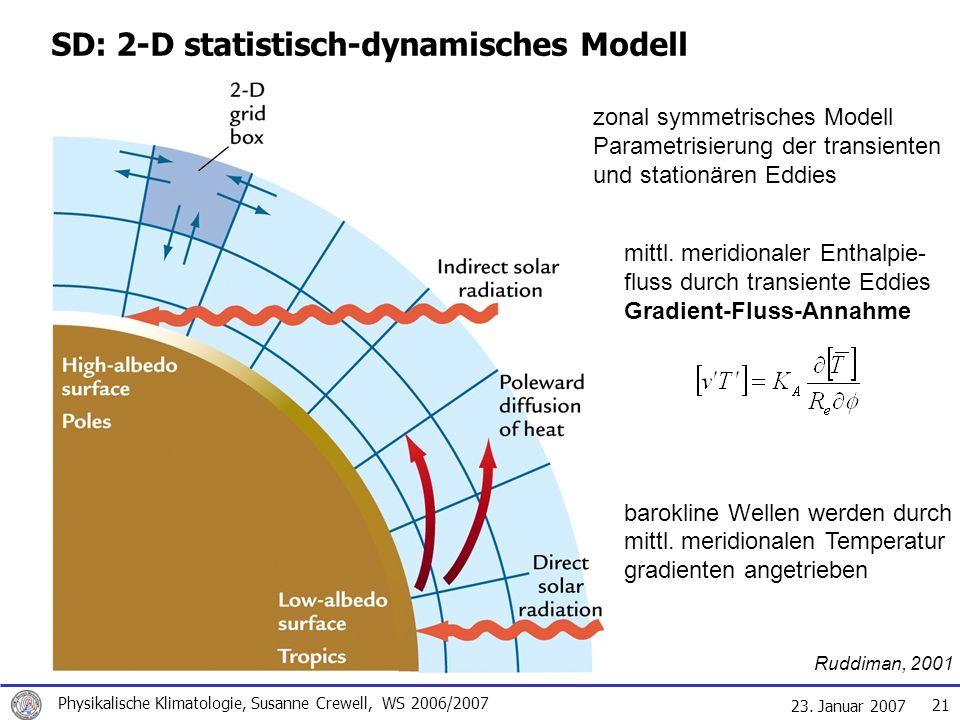 SD: 2-D statistisch-dynamisches Modell