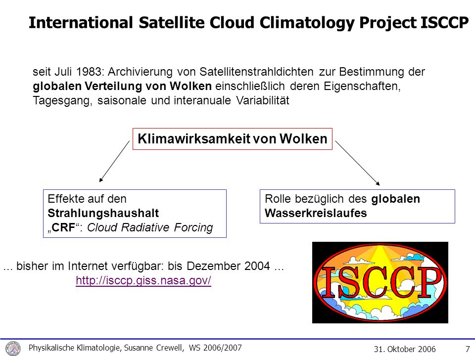 International Satellite Cloud Climatology Project ISCCP