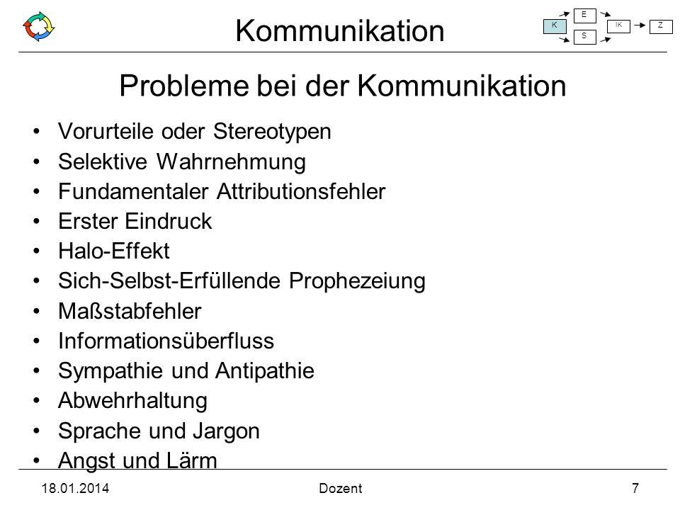 Probleme bei der Kommunikation