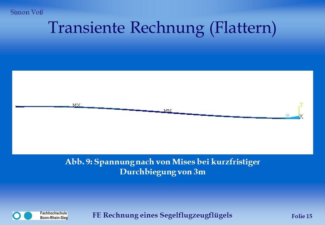 Transiente Rechnung (Flattern)