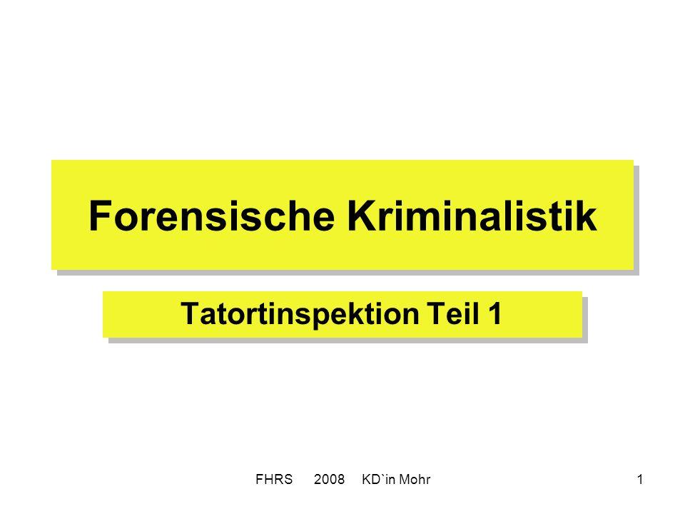 Forensische Kriminalistik