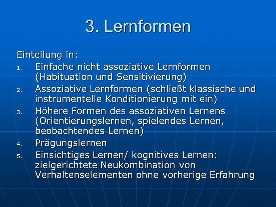 3. Lernformen Einteilung in: