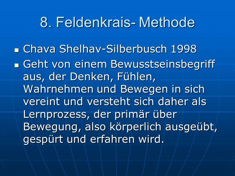 8. Feldenkrais- Methode Chava Shelhav-Silberbusch 1998