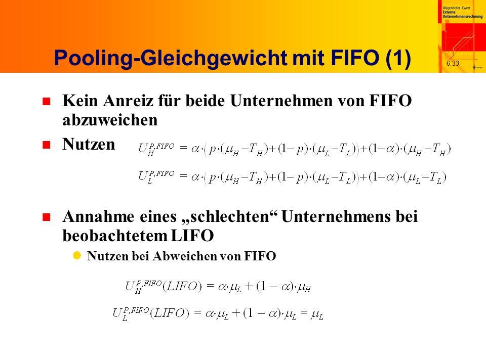 Pooling-Gleichgewicht mit FIFO (1)