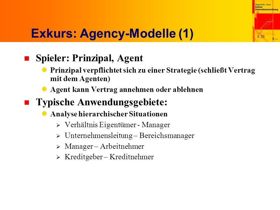 Exkurs: Agency-Modelle (1)