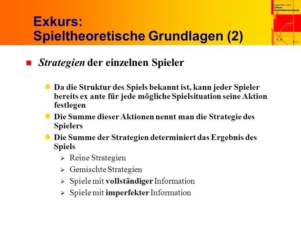 Exkurs: Spieltheoretische Grundlagen (2)