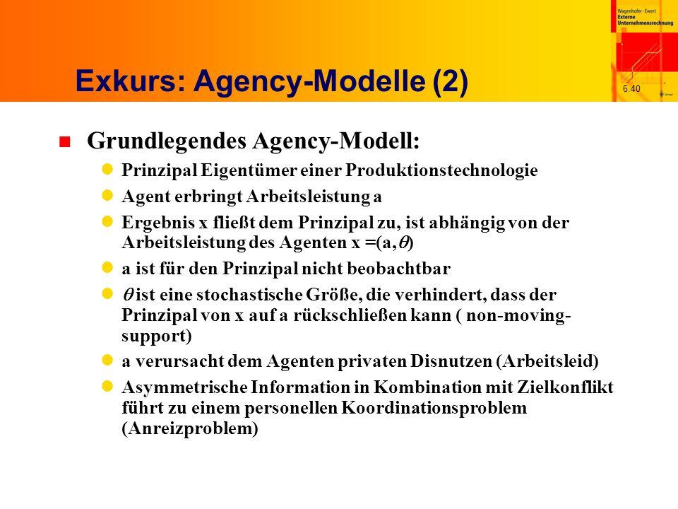 Exkurs: Agency-Modelle (2)