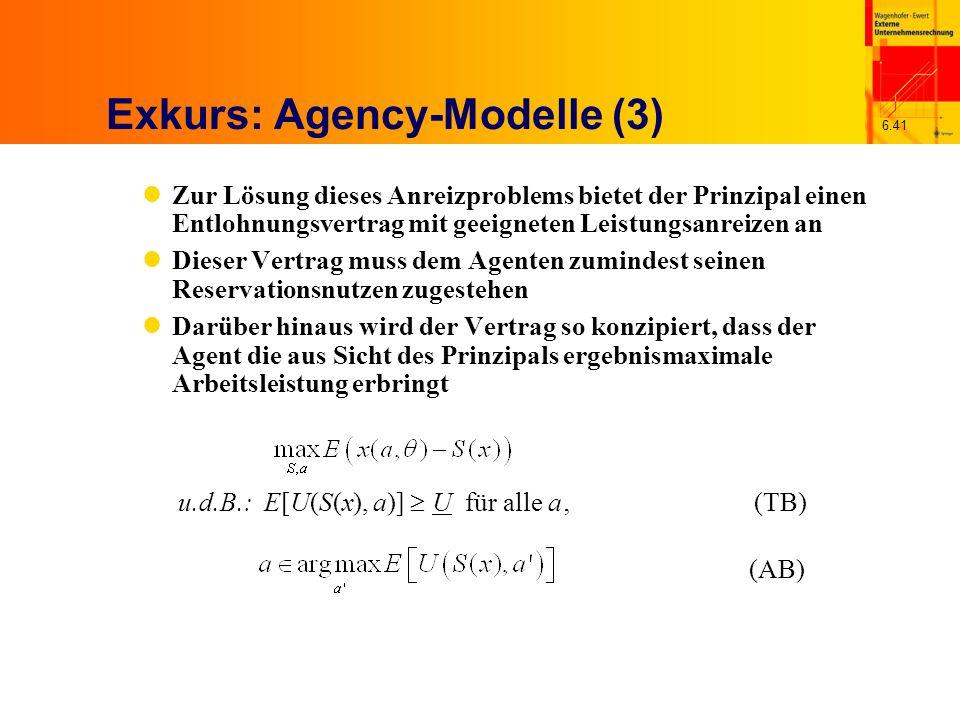 Exkurs: Agency-Modelle (3)