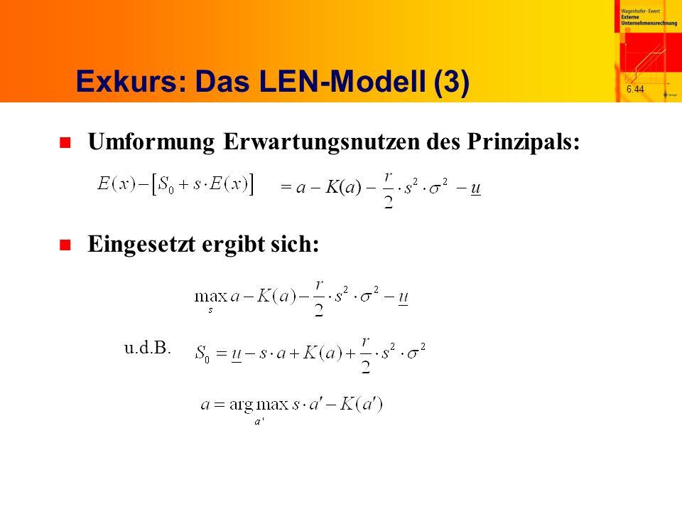 Exkurs: Das LEN-Modell (3)