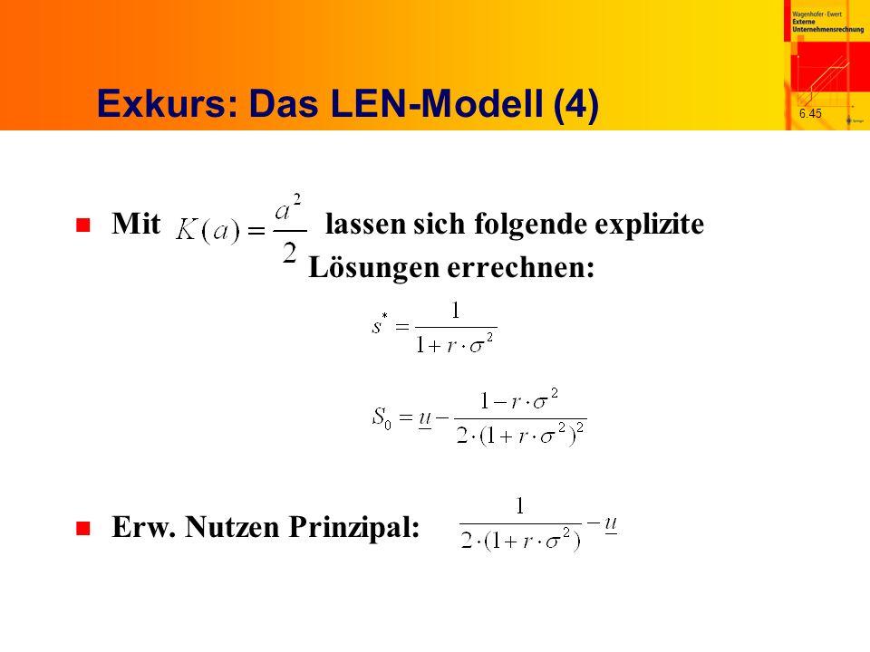 Exkurs: Das LEN-Modell (4)