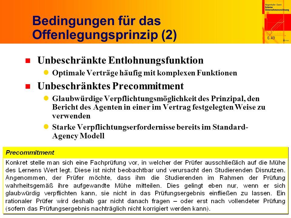 Bedingungen für das Offenlegungsprinzip (2)