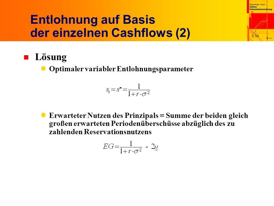 Entlohnung auf Basis der einzelnen Cashflows (2)