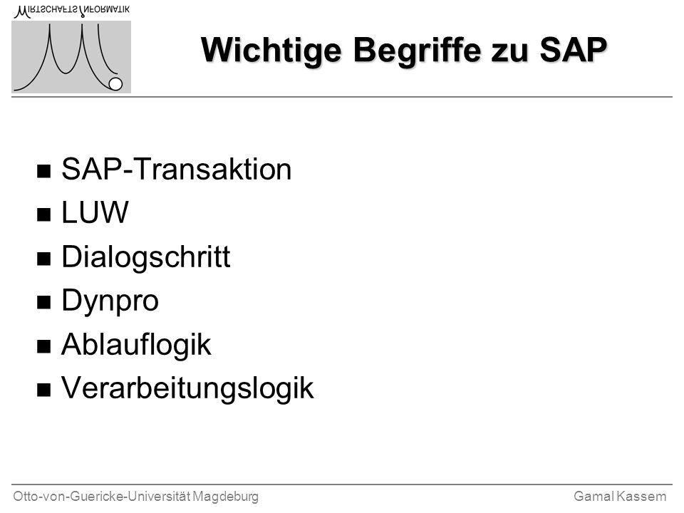 Wichtige Begriffe zu SAP