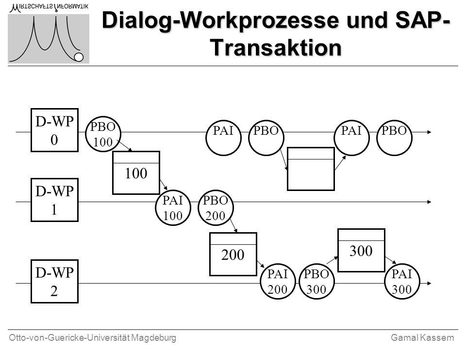 Dialog-Workprozesse und SAP-Transaktion