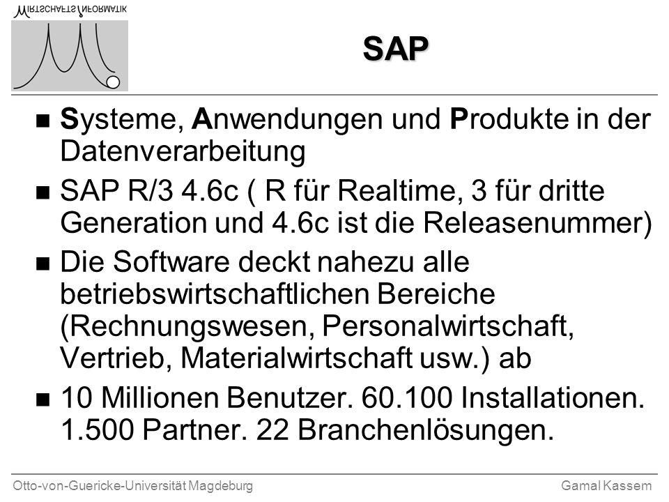 SAP Systeme, Anwendungen und Produkte in der Datenverarbeitung
