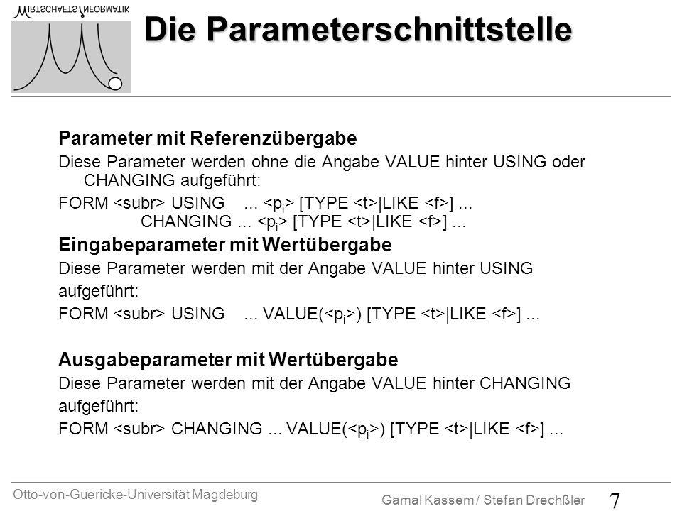 Die Parameterschnittstelle