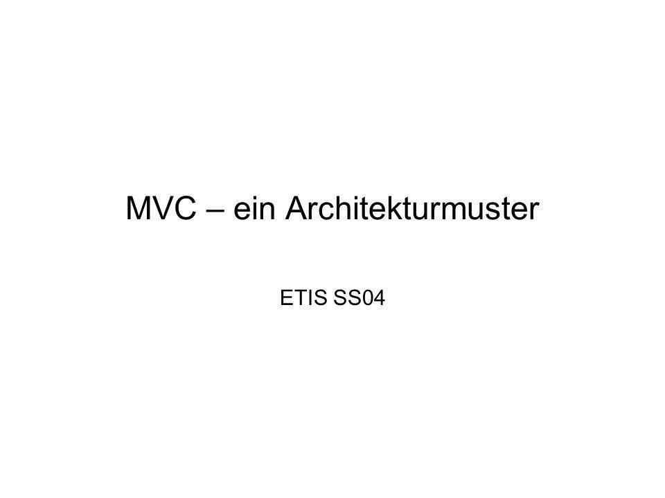 MVC – ein Architekturmuster