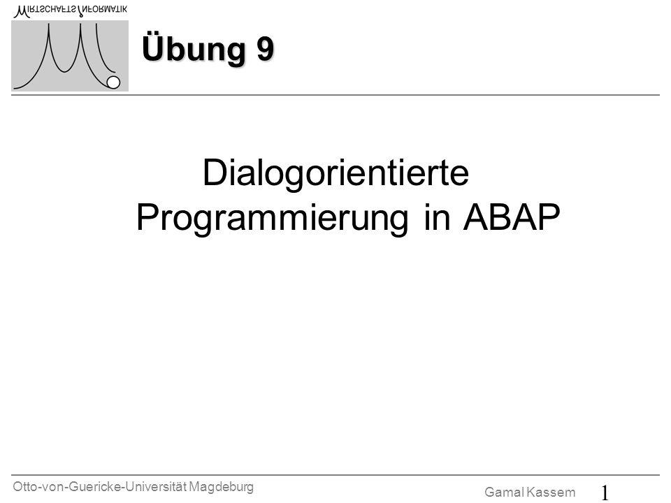 Dialogorientierte Programmierung in ABAP