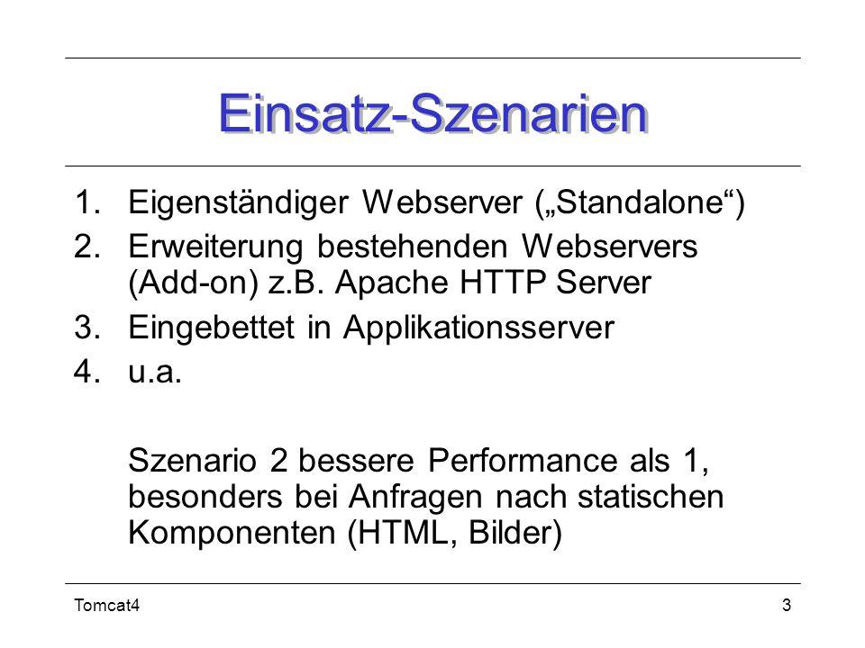 """Einsatz-Szenarien Eigenständiger Webserver (""""Standalone )"""