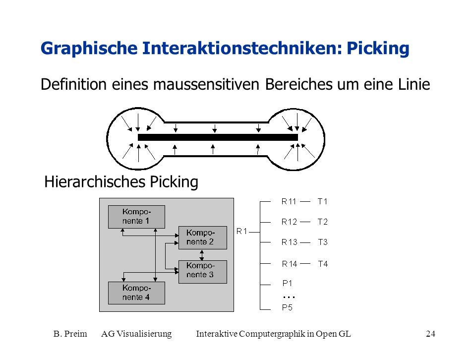 Graphische Interaktionstechniken: Picking