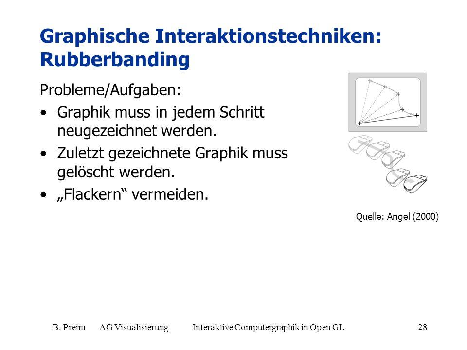 Graphische Interaktionstechniken: Rubberbanding