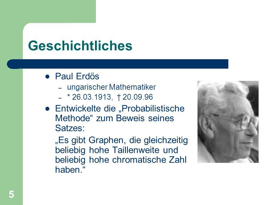 Geschichtliches Paul Erdös