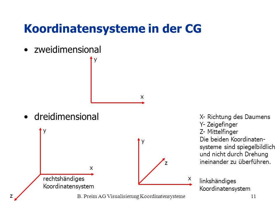Koordinatensysteme in der CG