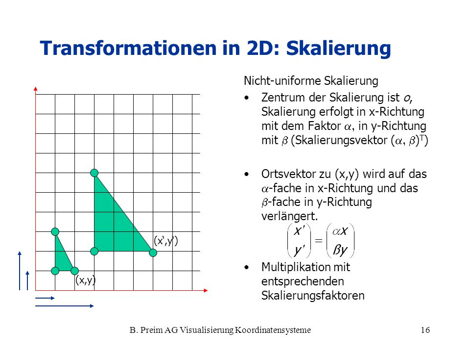Transformationen in 2D: Skalierung