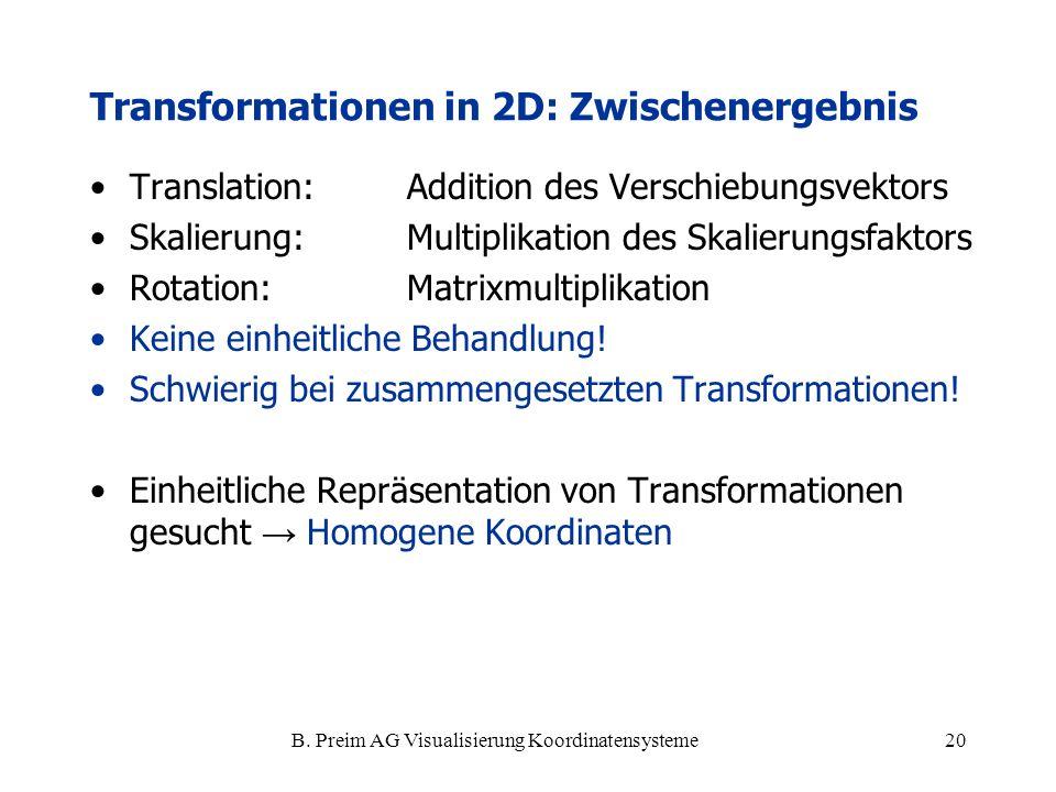 Transformationen in 2D: Zwischenergebnis