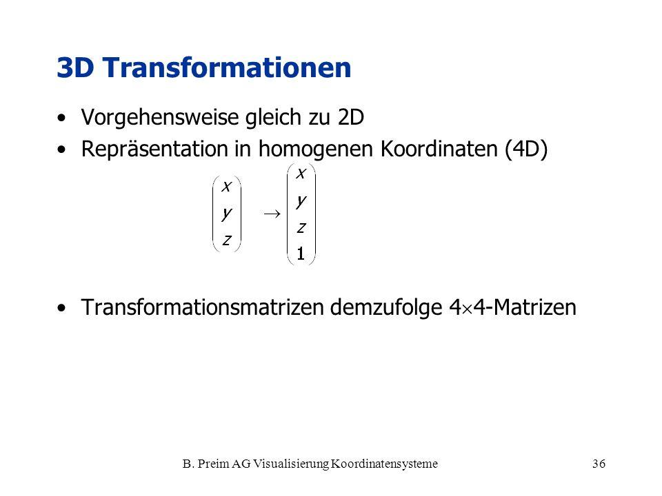 B. Preim AG Visualisierung Koordinatensysteme