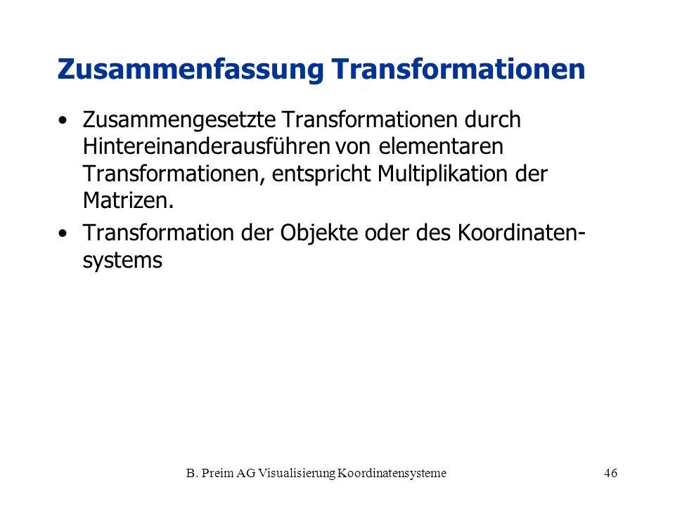 Zusammenfassung Transformationen