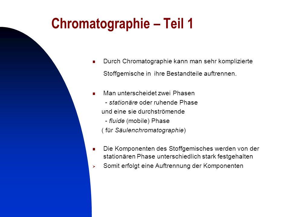 Chromatographie – Teil 1