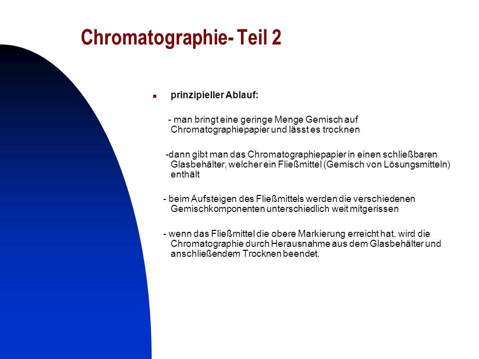 Chromatographie- Teil 2