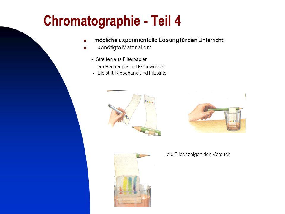 Chromatographie - Teil 4