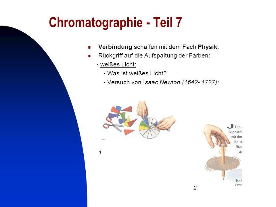 Chromatographie - Teil 7