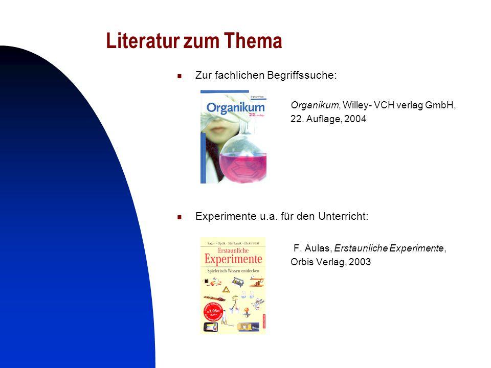 Literatur zum Thema Zur fachlichen Begriffssuche: