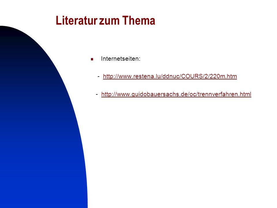 Literatur zum Thema Internetseiten:
