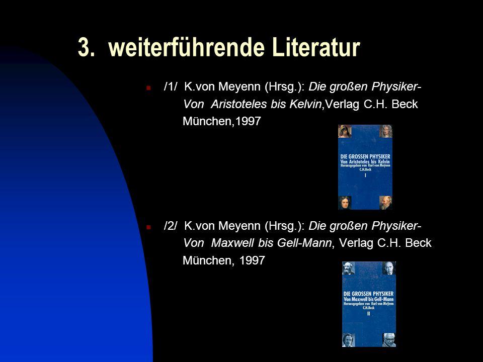 3. weiterführende Literatur