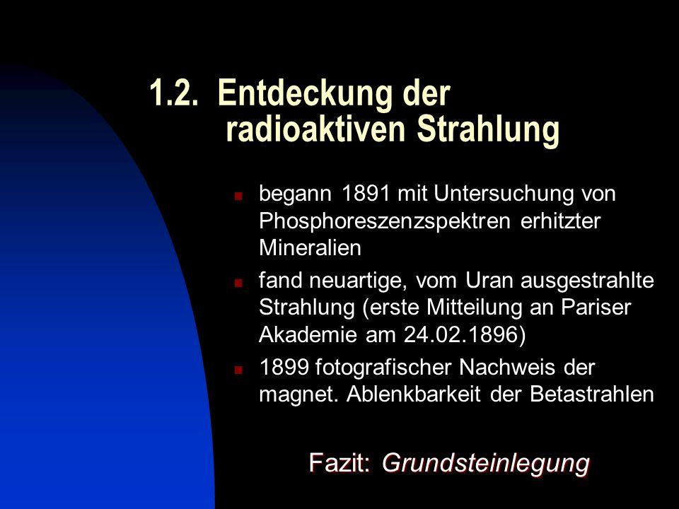 1.2. Entdeckung der radioaktiven Strahlung