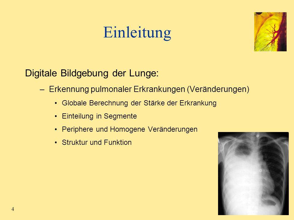 Einleitung Digitale Bildgebung der Lunge: