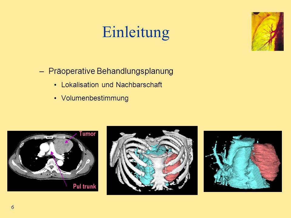 Einleitung Präoperative Behandlungsplanung