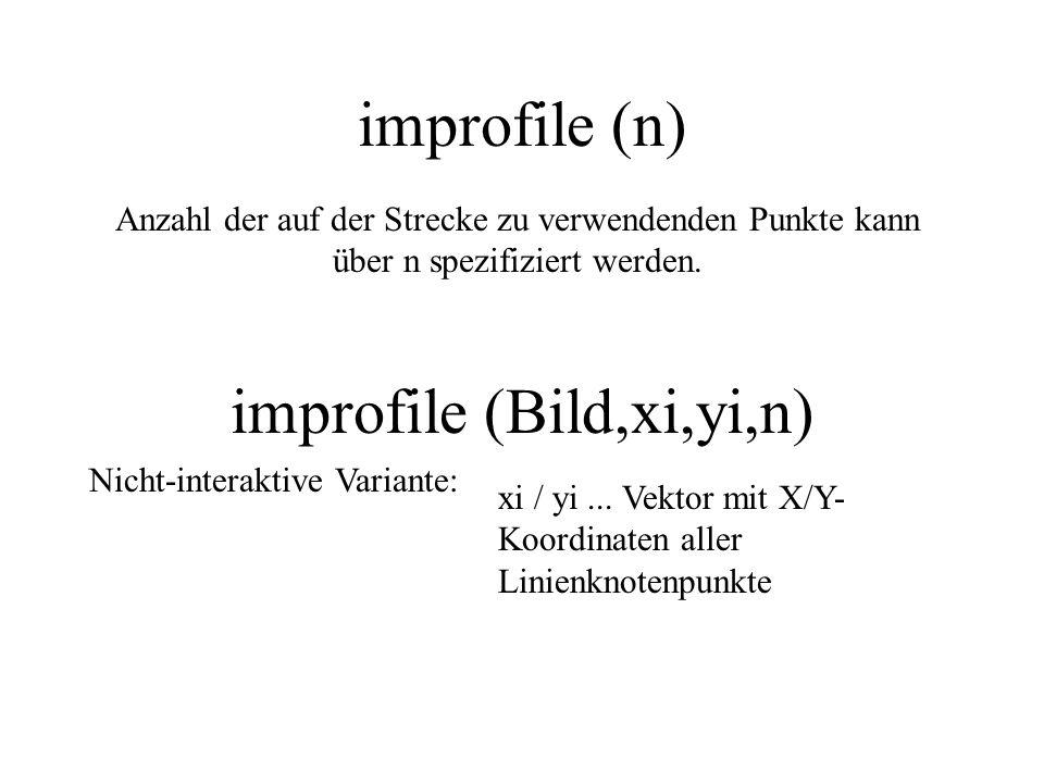 improfile (Bild,xi,yi,n)