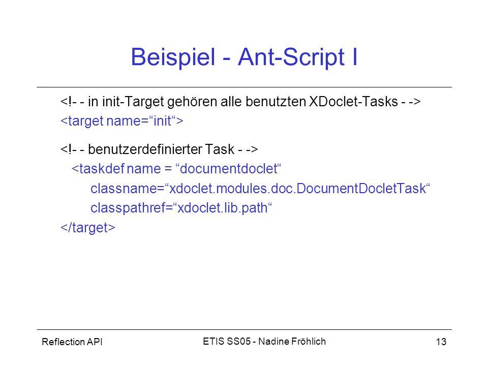 Beispiel - Ant-Script I