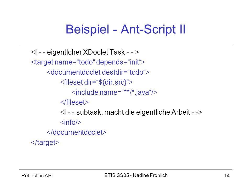 Beispiel - Ant-Script II
