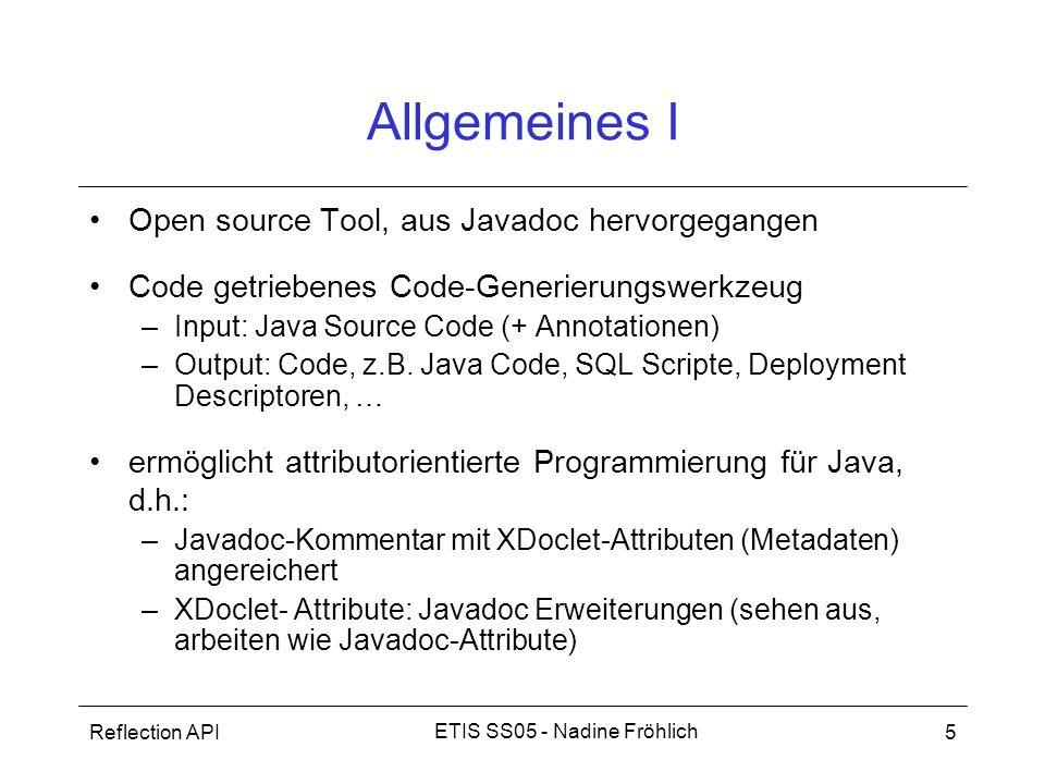 Allgemeines I Open source Tool, aus Javadoc hervorgegangen