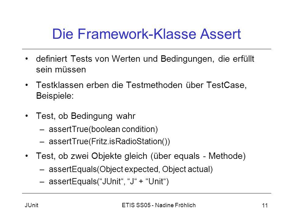 Die Framework-Klasse Assert