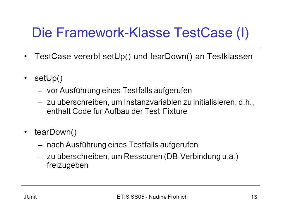 Die Framework-Klasse TestCase (I)