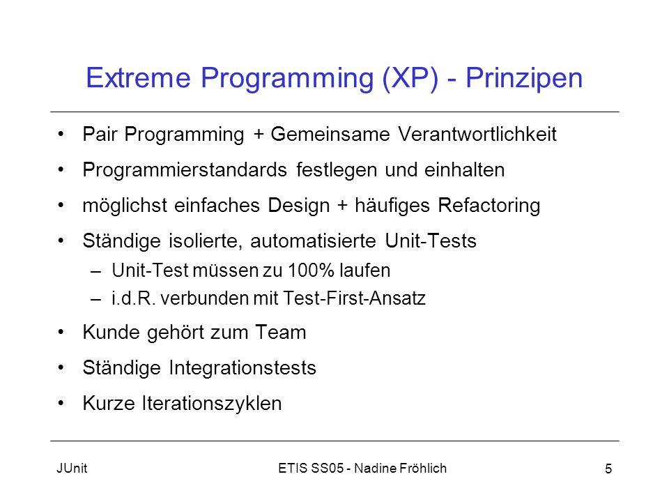 Extreme Programming (XP) - Prinzipen