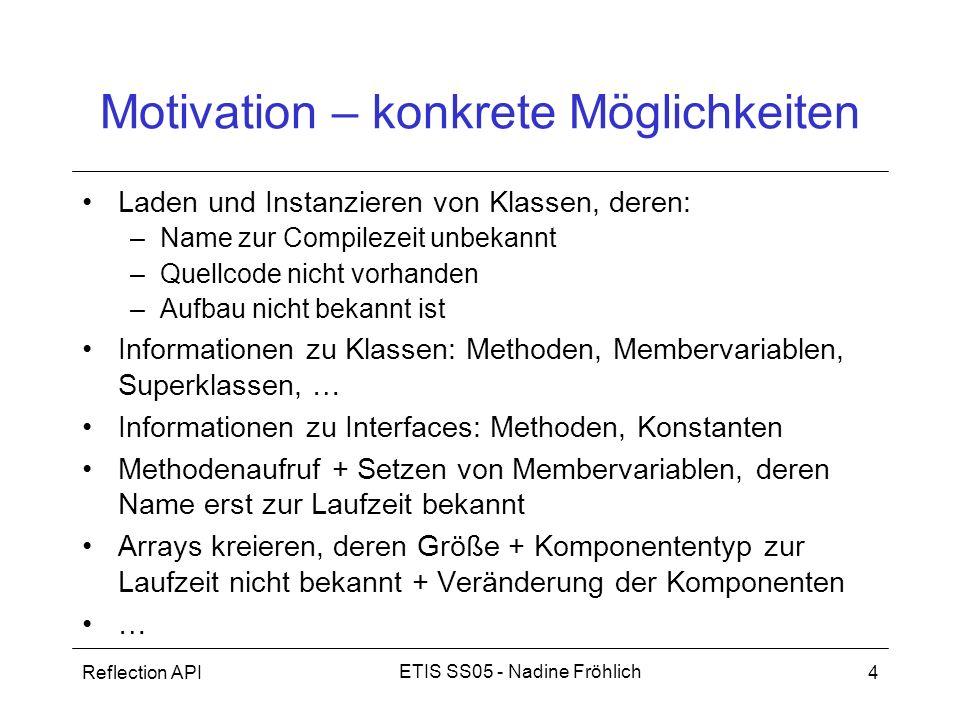 Motivation – konkrete Möglichkeiten