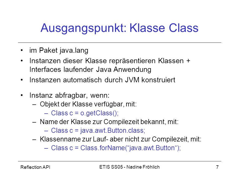 Ausgangspunkt: Klasse Class
